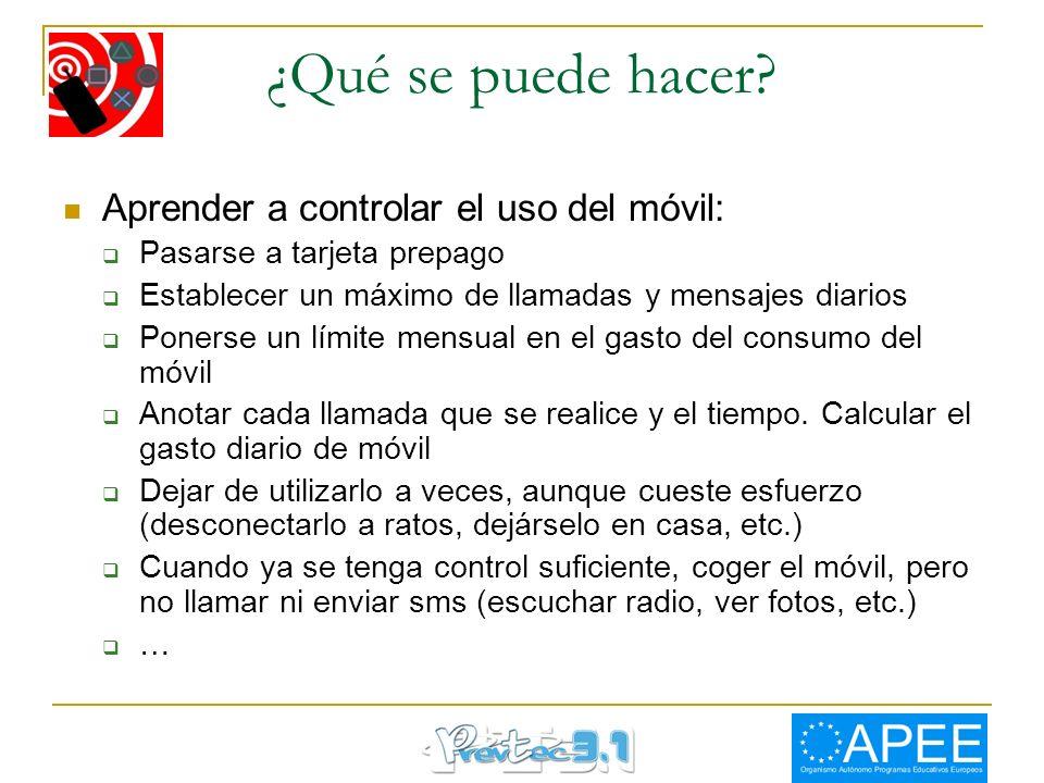¿Qué se puede hacer Aprender a controlar el uso del móvil: