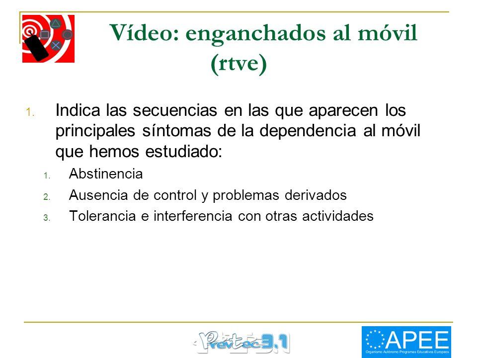 Vídeo: enganchados al móvil (rtve)
