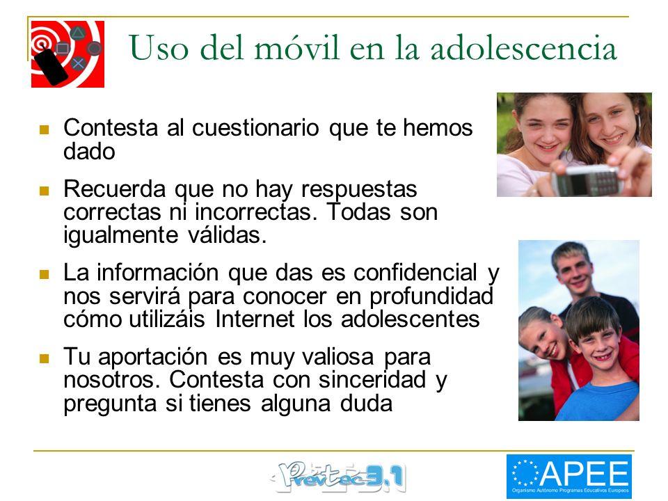 Uso del móvil en la adolescencia