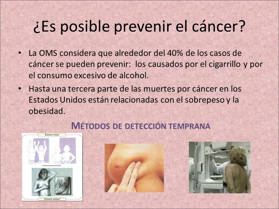 ¿Es posible prevenir el cáncer