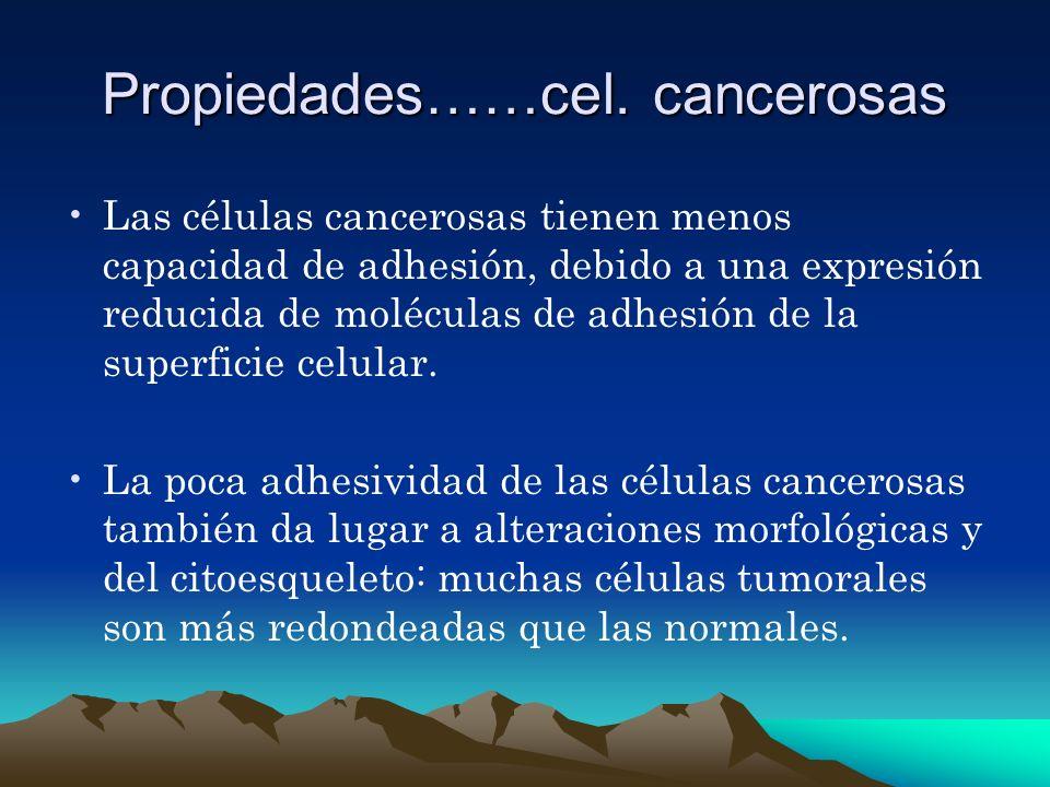 Propiedades……cel. cancerosas