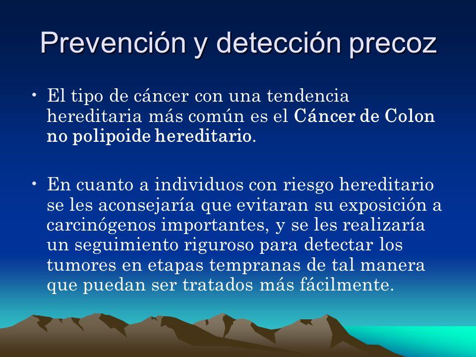 Prevención y detección precoz