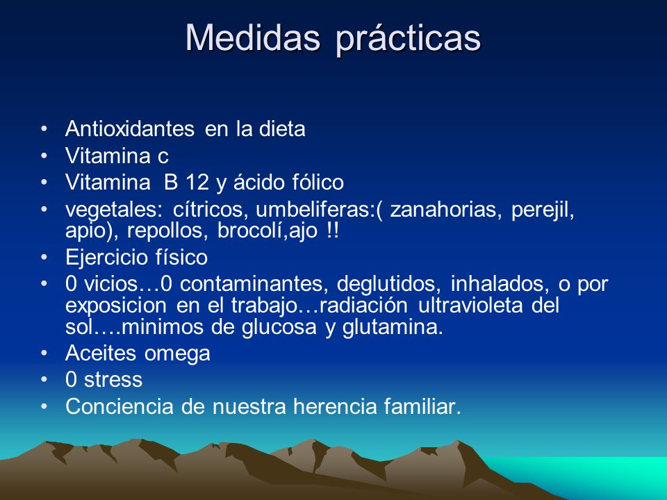 Medidas prácticas Antioxidantes en la dieta Vitamina c