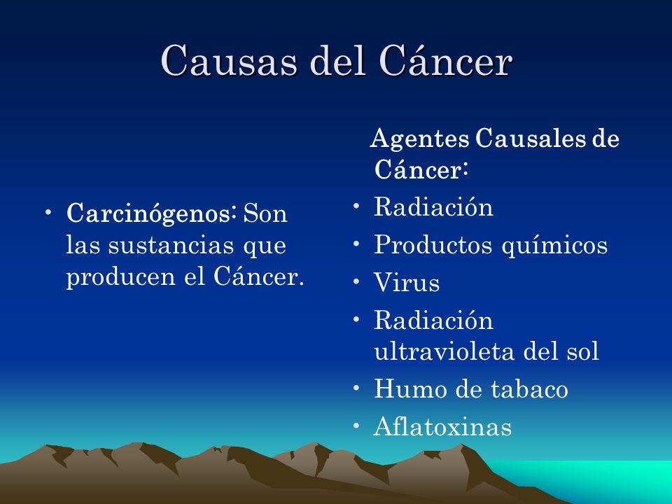 Causas del Cáncer Agentes Causales de Cáncer: Radiación