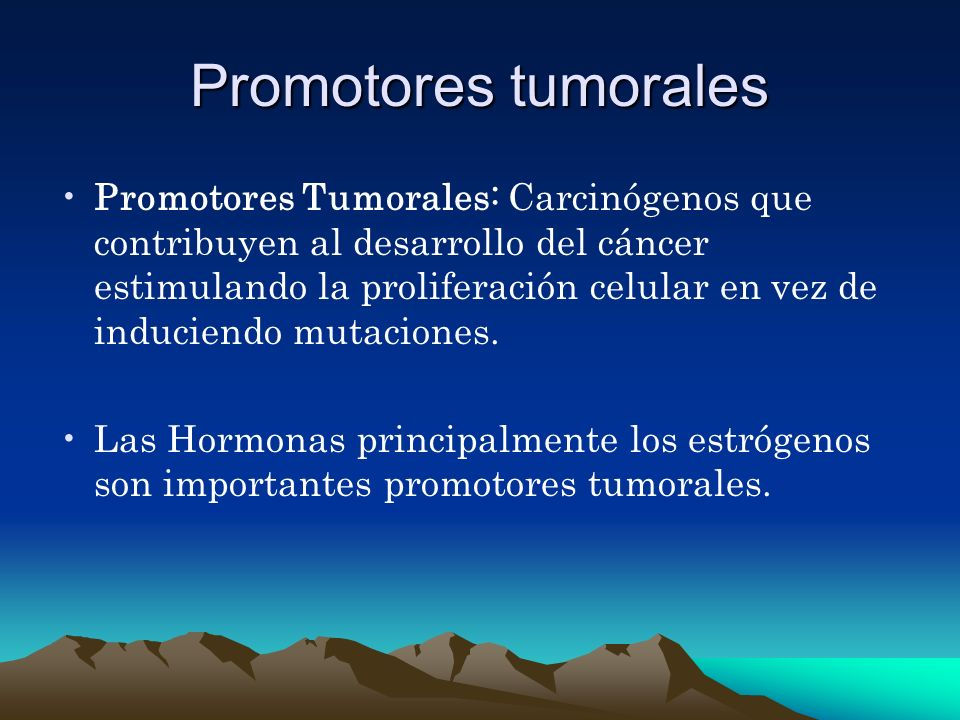 Promotores tumorales