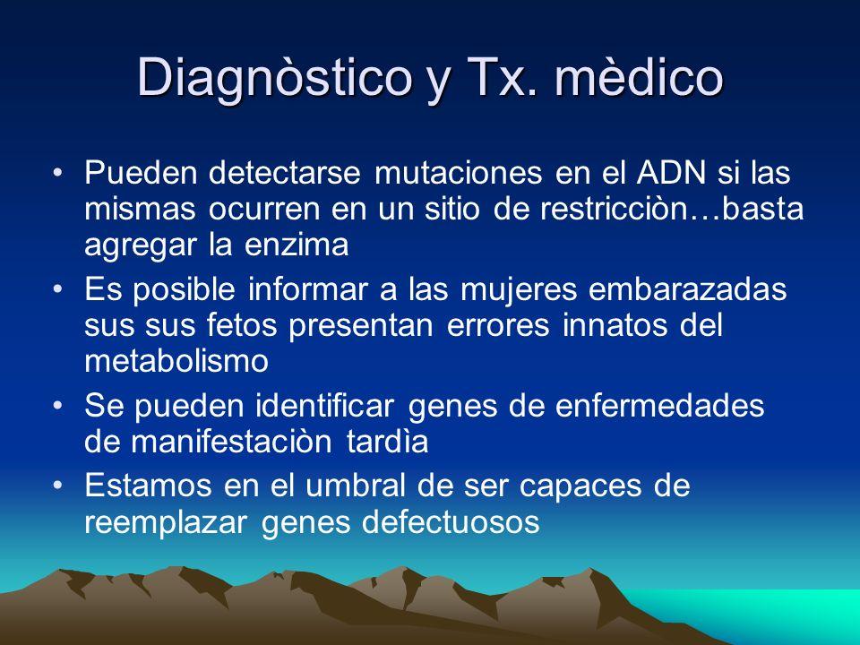 Diagnòstico y Tx. mèdico