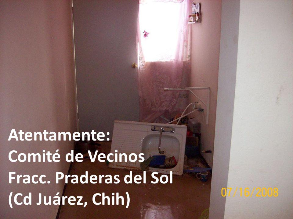 Atentamente: Comité de Vecinos Fracc. Praderas del Sol (Cd Juárez, Chih)