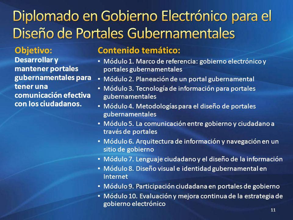 Diplomado en Gobierno Electrónico para el Diseño de Portales Gubernamentales