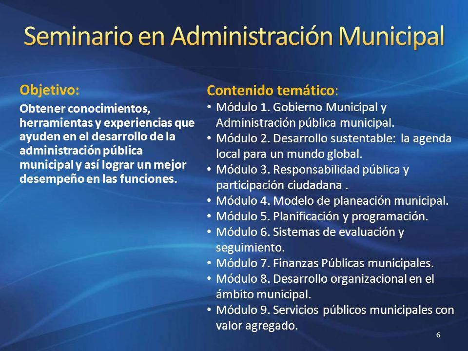 Seminario en Administración Municipal