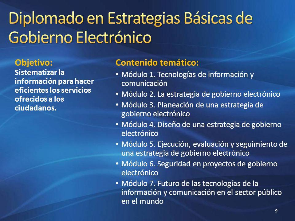 Diplomado en Estrategias Básicas de Gobierno Electrónico