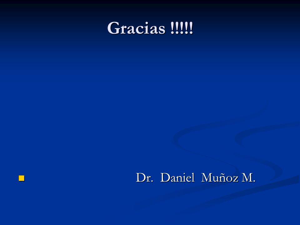 Gracias !!!!! Dr. Daniel Muñoz M.
