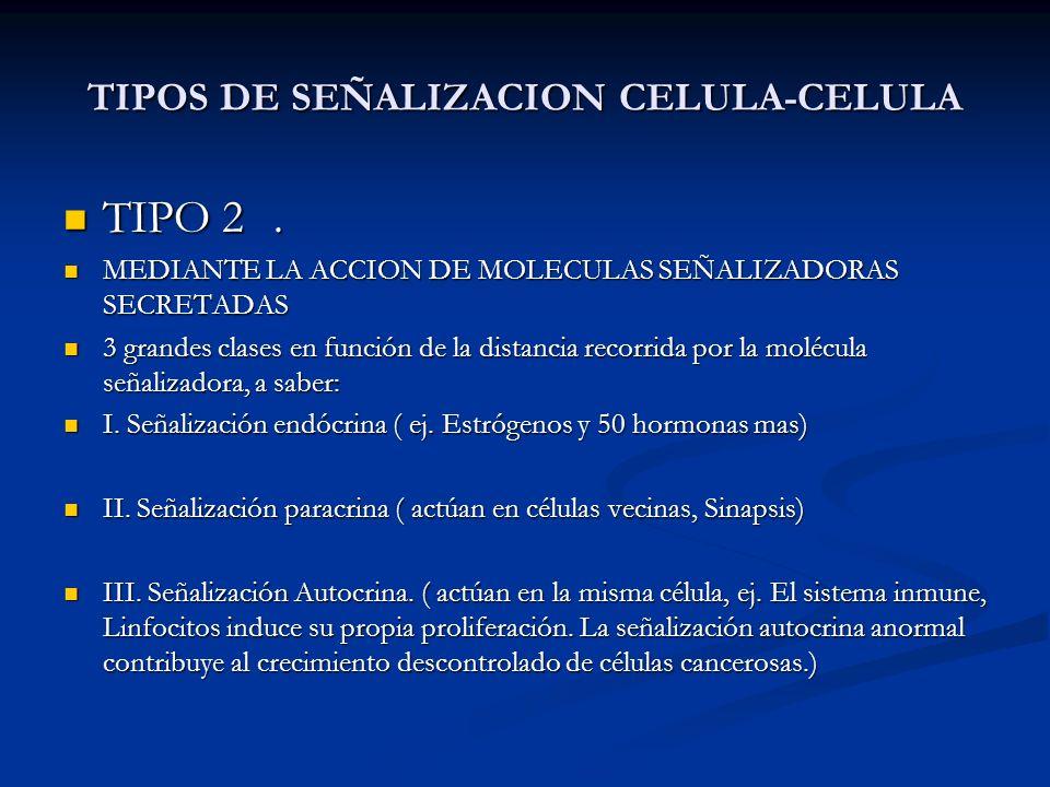 TIPOS DE SEÑALIZACION CELULA-CELULA