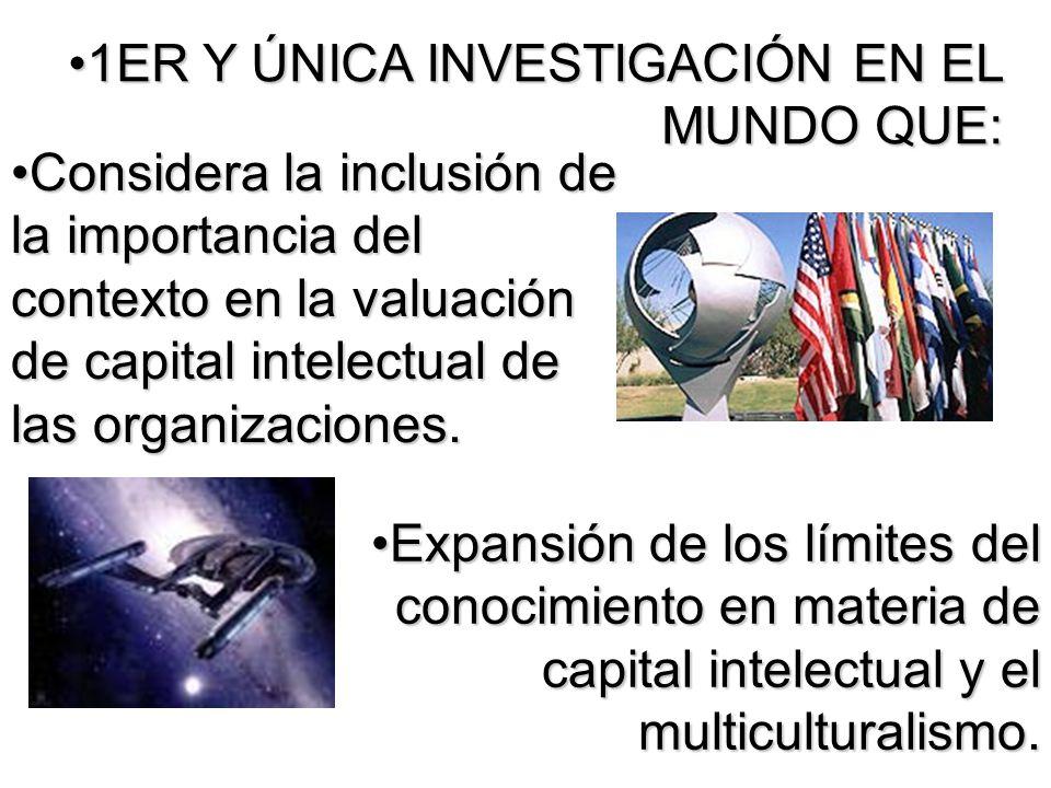 1ER Y ÚNICA INVESTIGACIÓN EN EL MUNDO QUE: