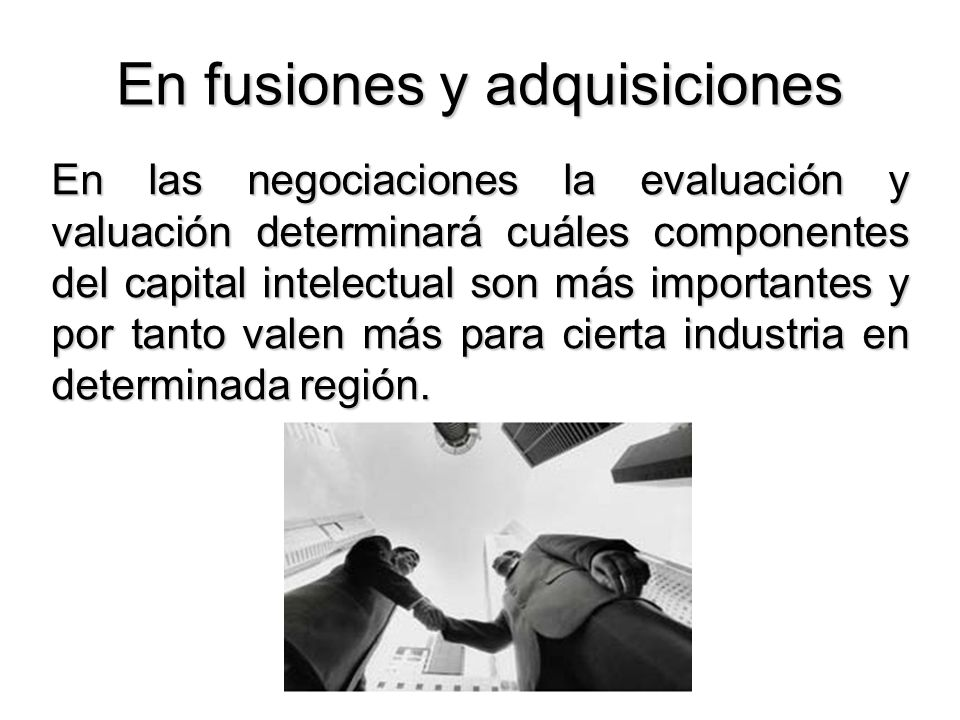 En fusiones y adquisiciones