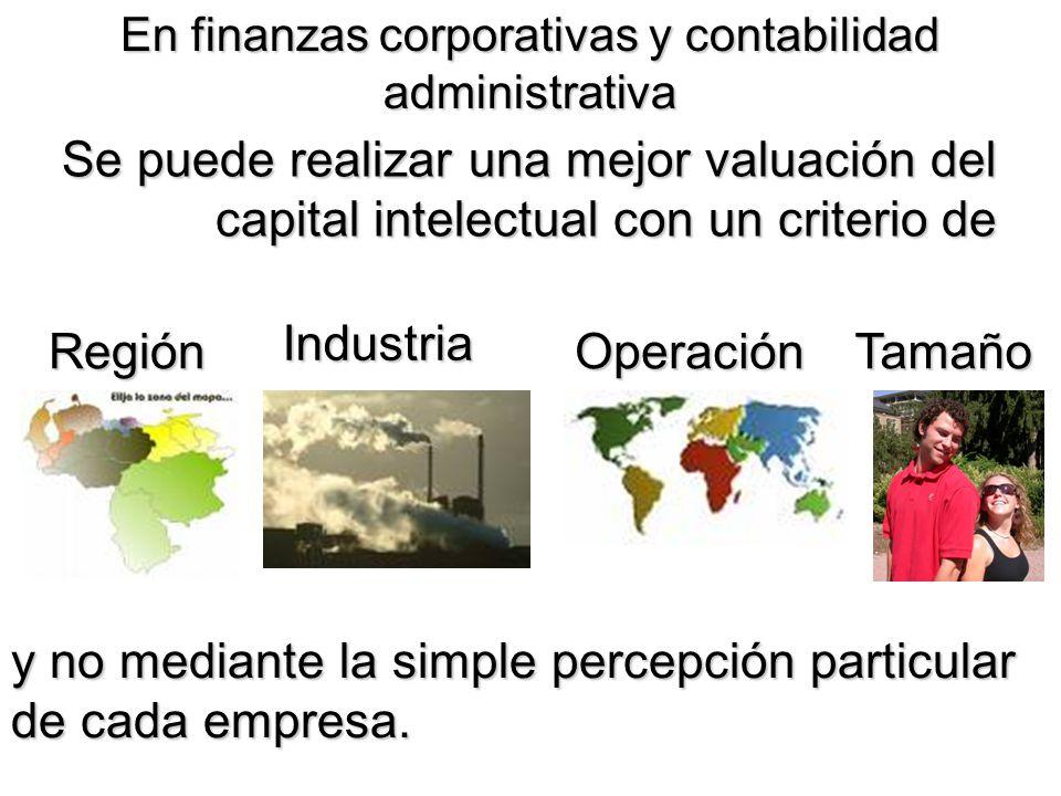 En finanzas corporativas y contabilidad administrativa
