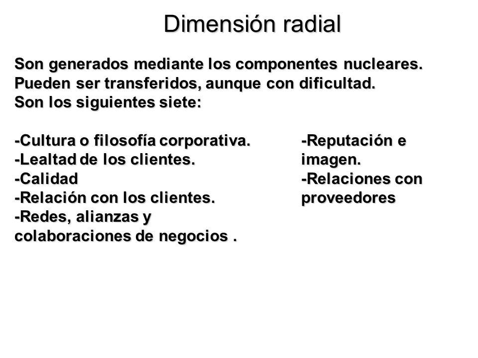 Dimensión radial Son generados mediante los componentes nucleares.