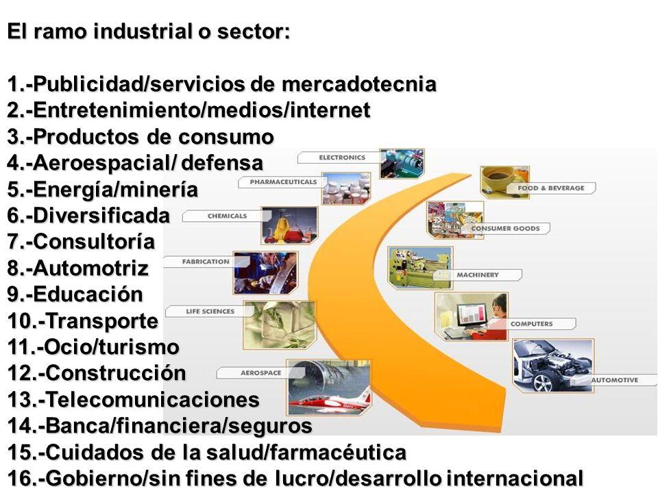 El ramo industrial o sector: