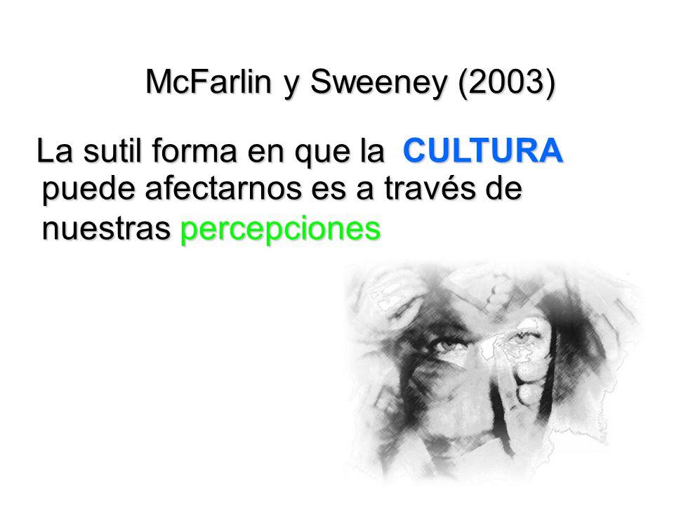 McFarlin y Sweeney (2003) La sutil forma en que la.