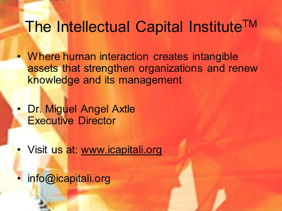 The Intellectual Capital InstituteTM