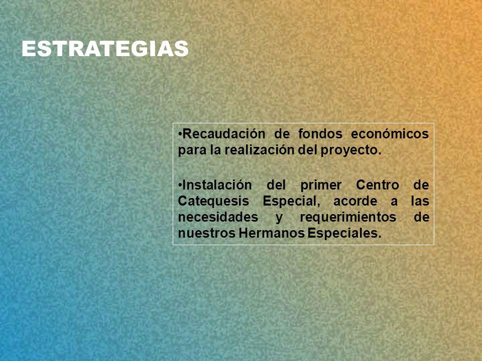 ESTRATEGIAS Recaudación de fondos económicos para la realización del proyecto.