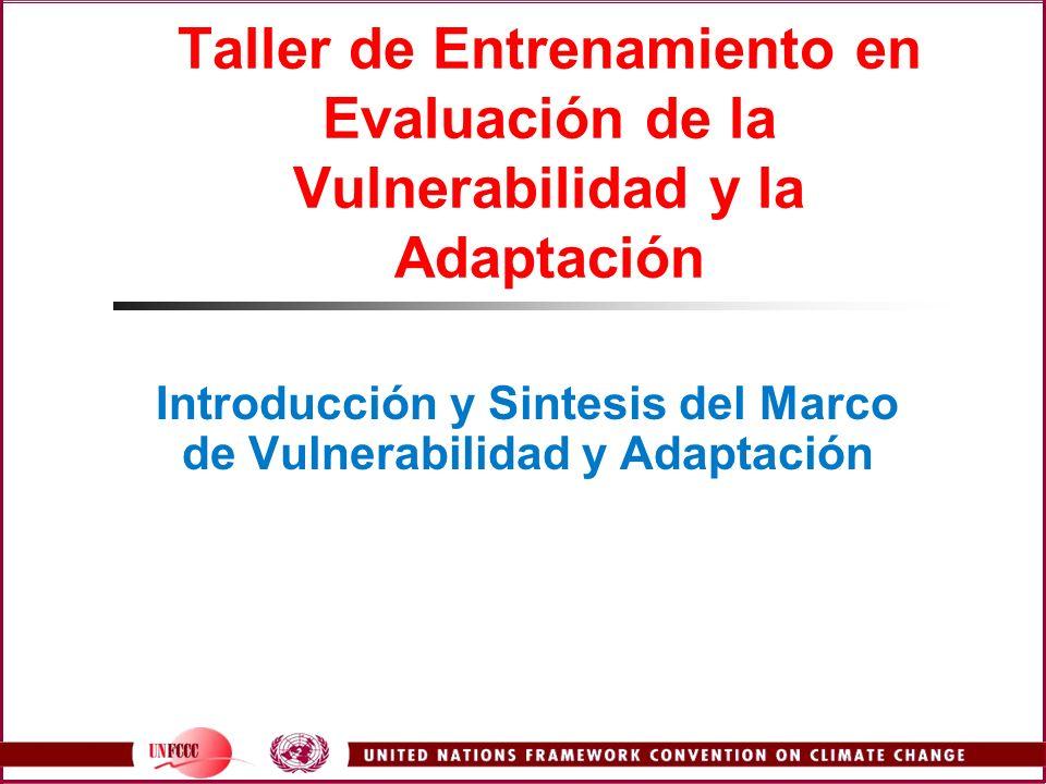 Introducción y Sintesis del Marco de Vulnerabilidad y Adaptación