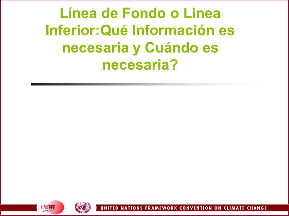 Línea de Fondo o Linea Inferior:Qué Información es necesaria y Cuándo es necesaria