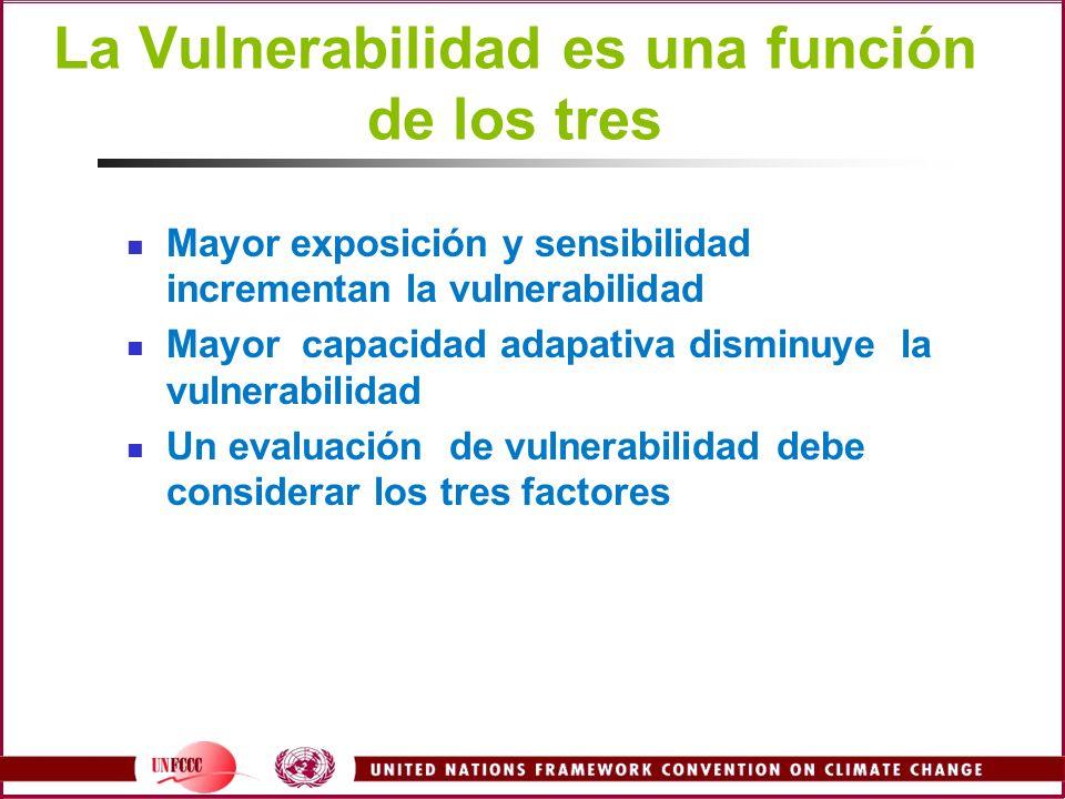 La Vulnerabilidad es una función de los tres
