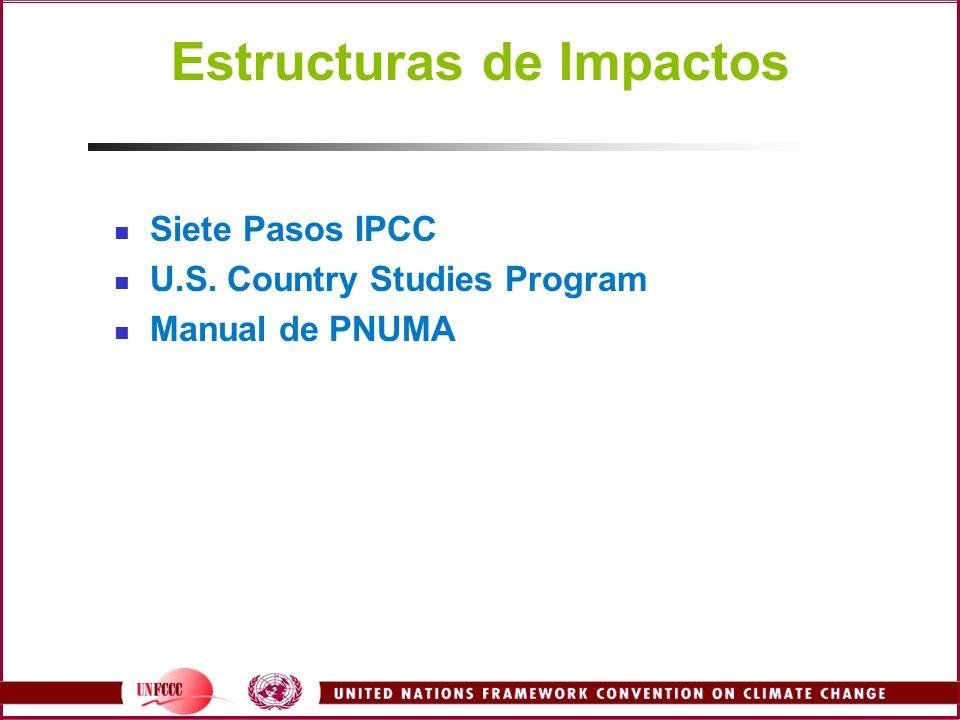 Estructuras de Impactos