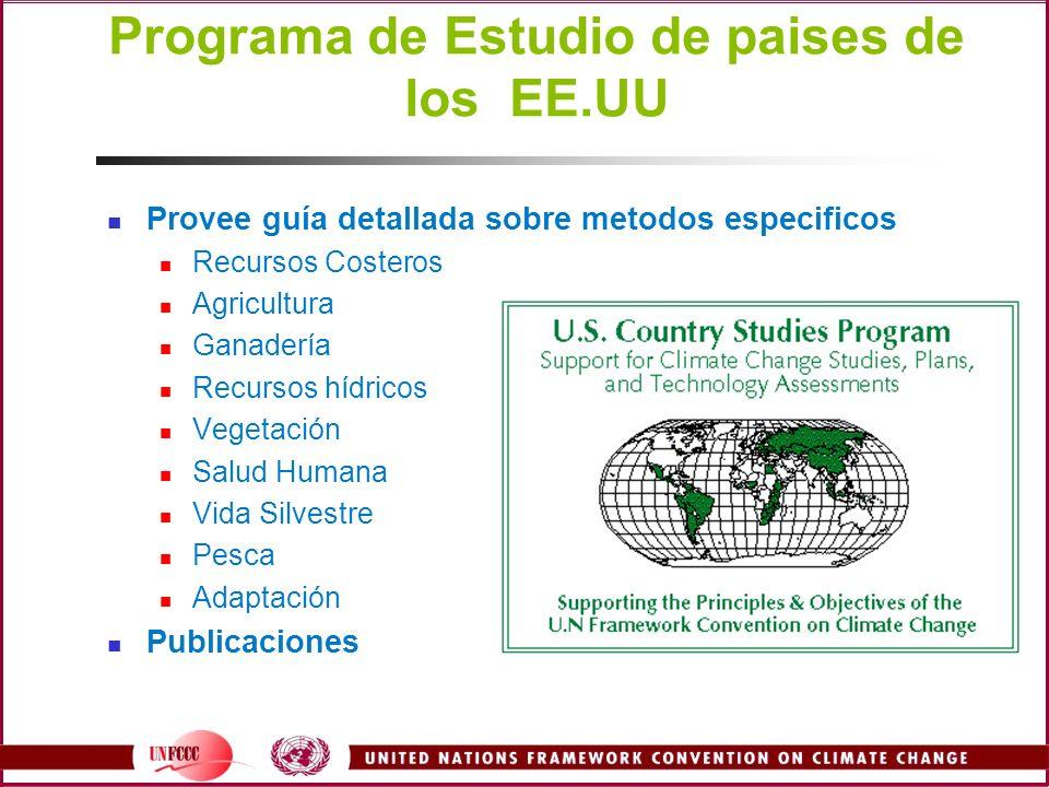 Programa de Estudio de paises de los EE.UU