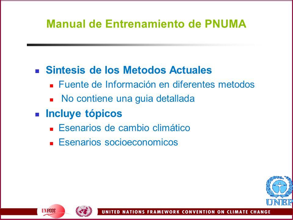 Manual de Entrenamiento de PNUMA