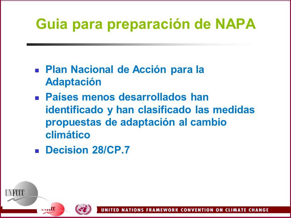 Guia para preparación de NAPA