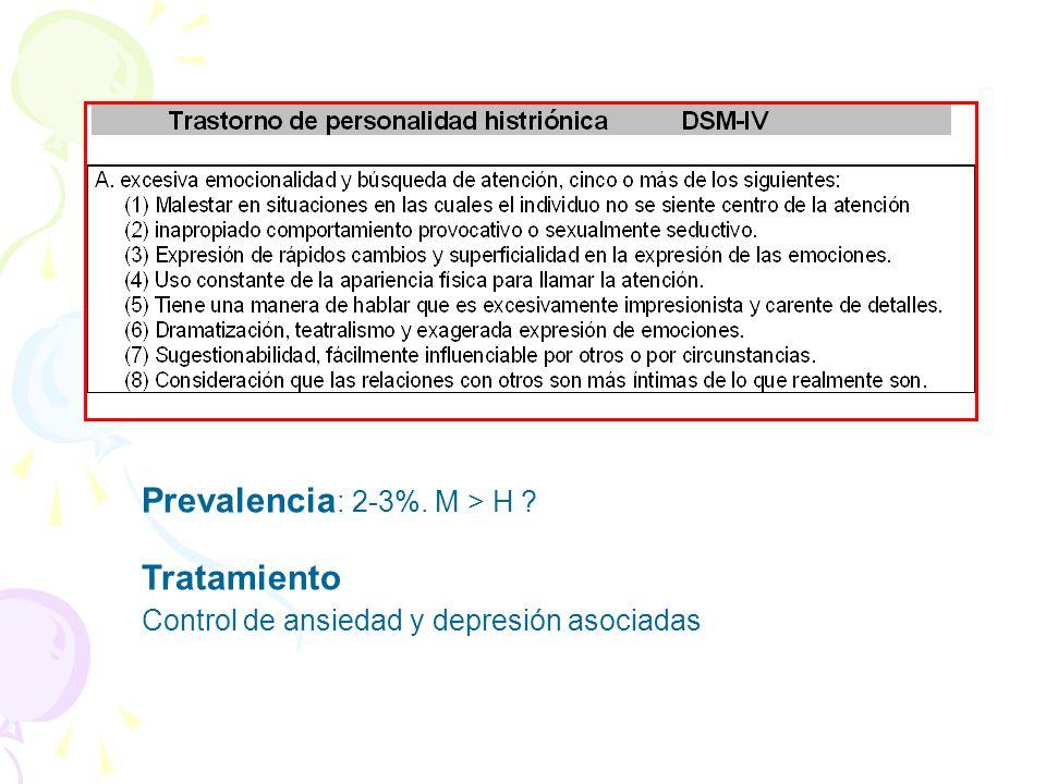 Prevalencia: 2-3%. M > H Tratamiento