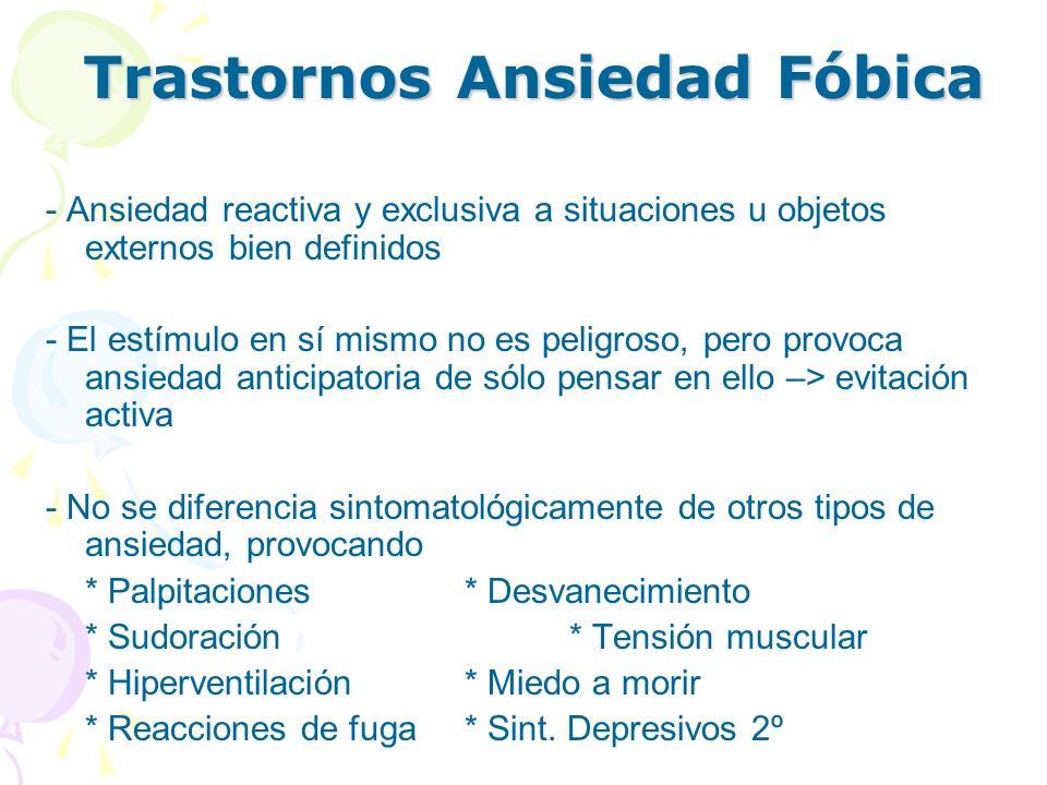 Trastornos Ansiedad Fóbica