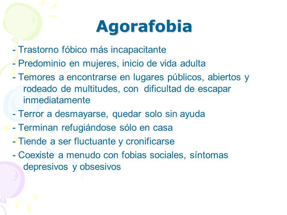 Agorafobia - Trastorno fóbico más incapacitante