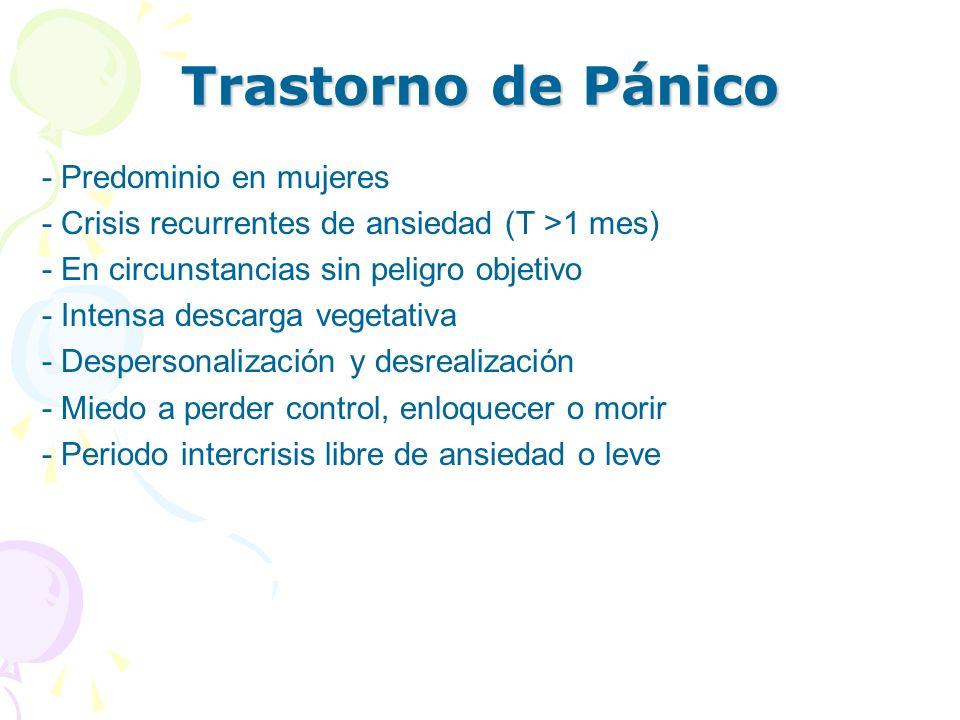 Trastorno de Pánico - Predominio en mujeres