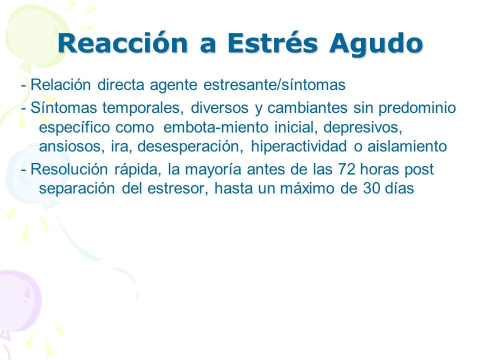 Reacción a Estrés Agudo