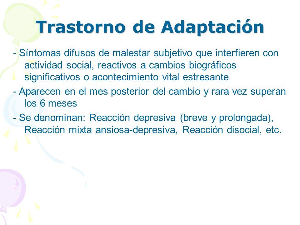 Trastorno de Adaptación