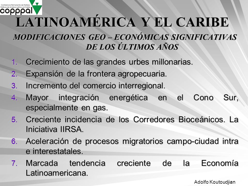 LATINOAMÉRICA Y EL CARIBE
