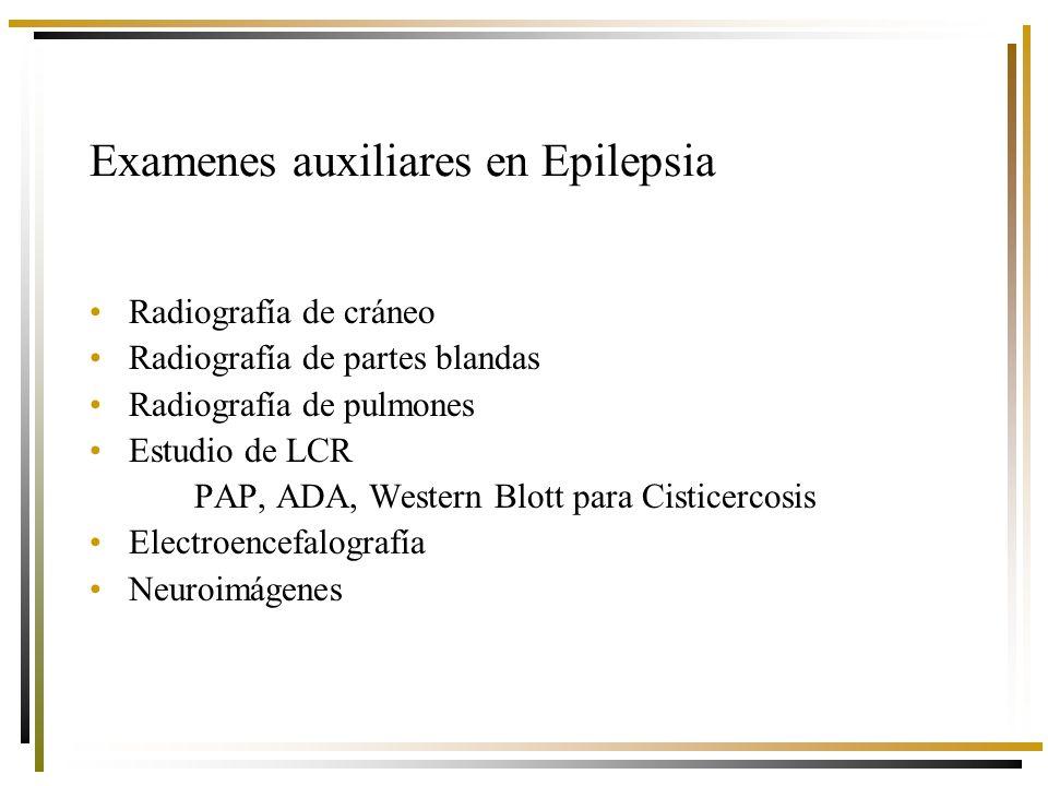 Examenes auxiliares en Epilepsia
