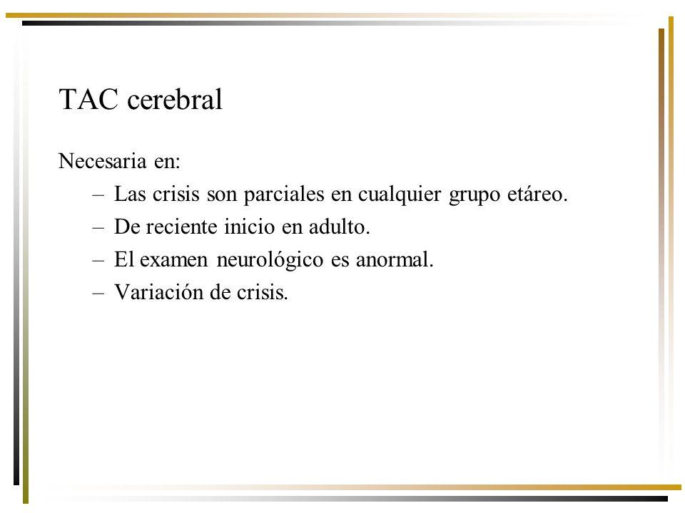 TAC cerebral Necesaria en: