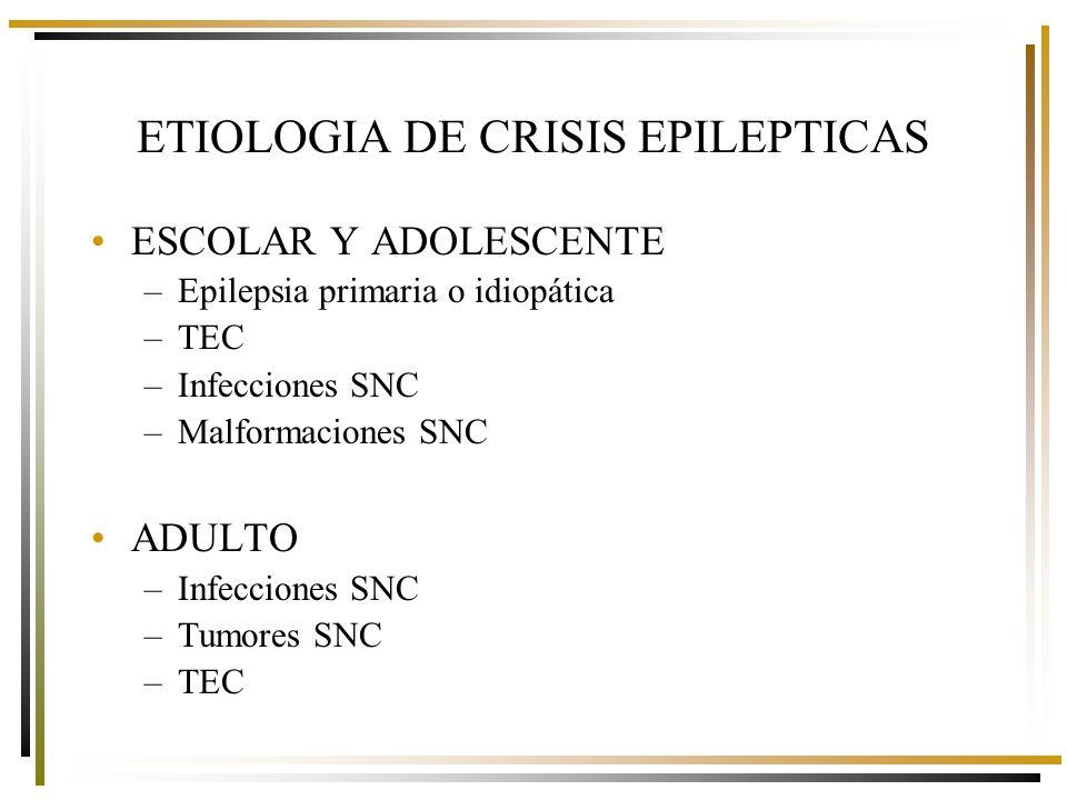 ETIOLOGIA DE CRISIS EPILEPTICAS