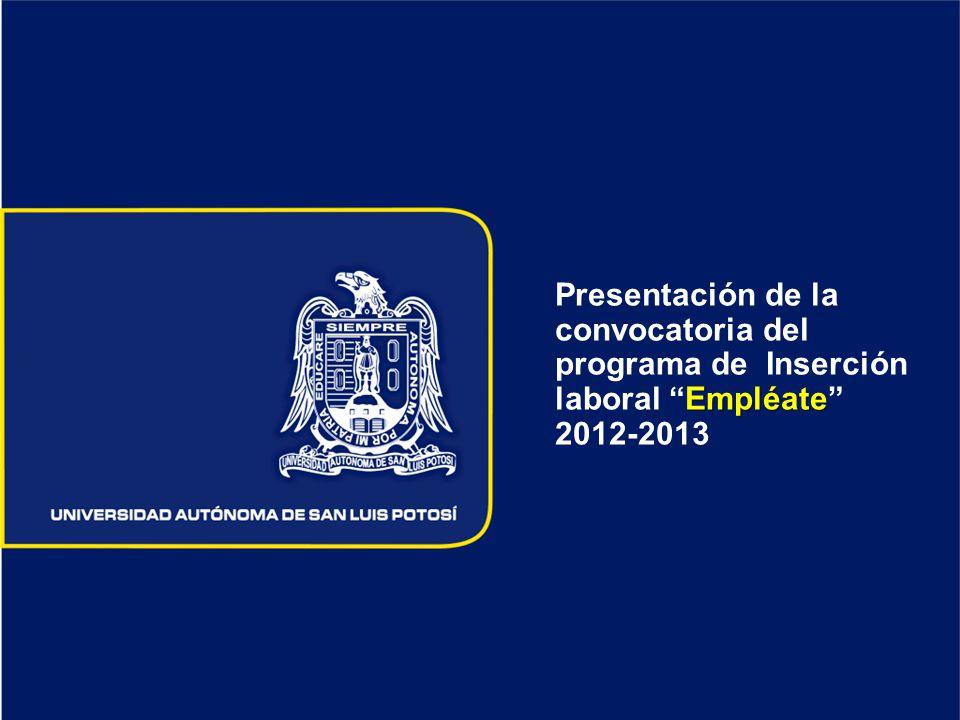 Presentación de la convocatoria del programa de Inserción laboral Empléate 2012-2013