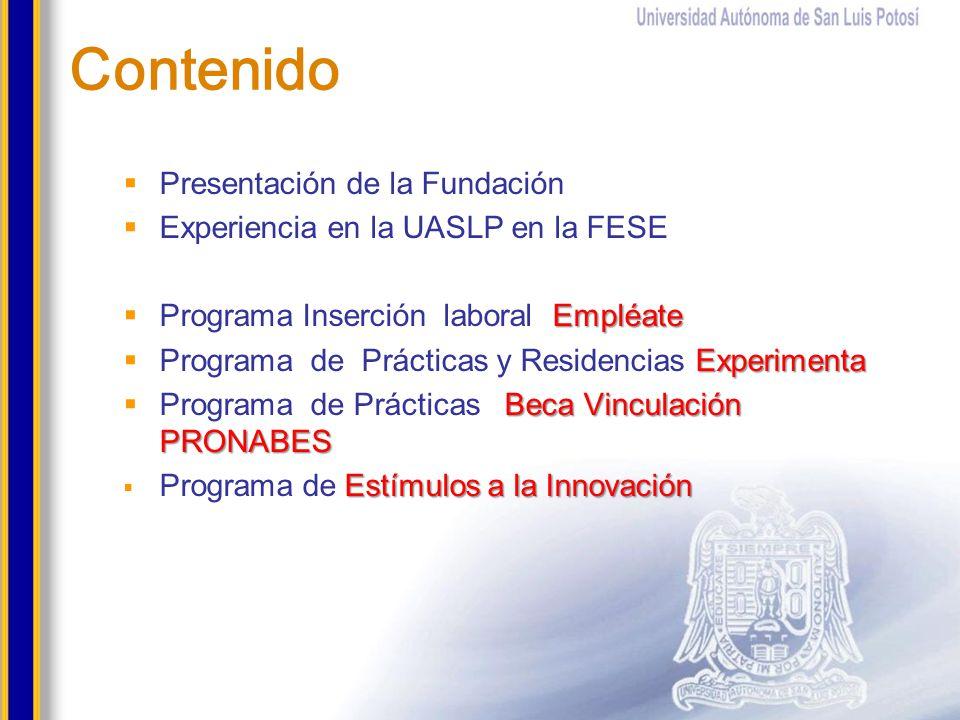Contenido Presentación de la Fundación