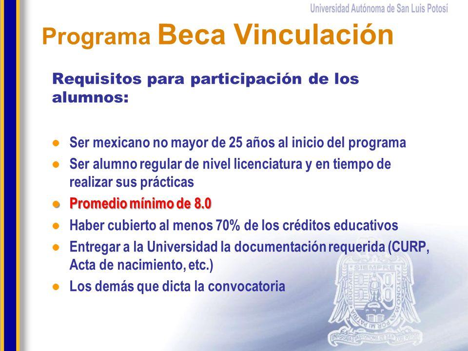 Programa Beca Vinculación