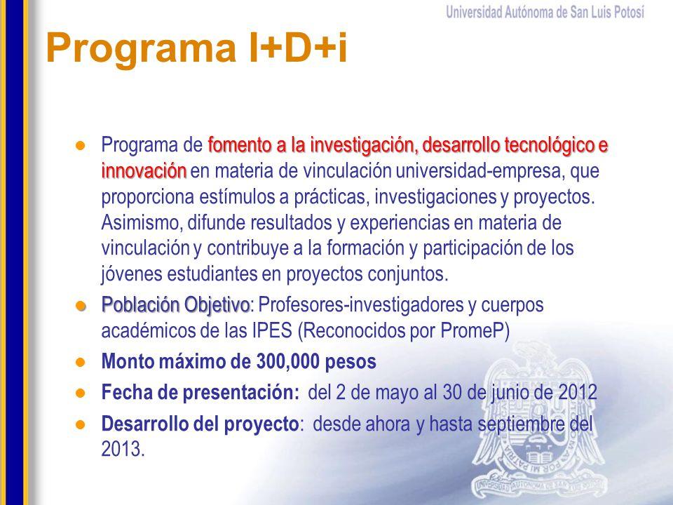 Programa I+D+i