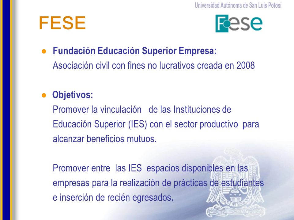 FESE Fundación Educación Superior Empresa: