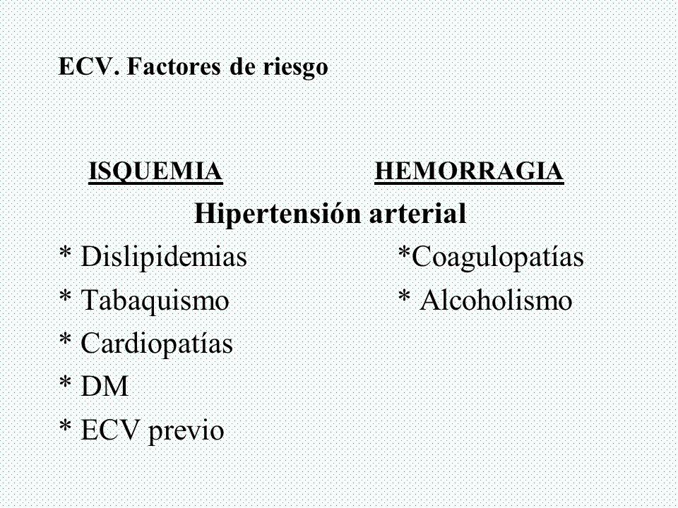 Hipertensión arterial * Dislipidemias *Coagulopatías