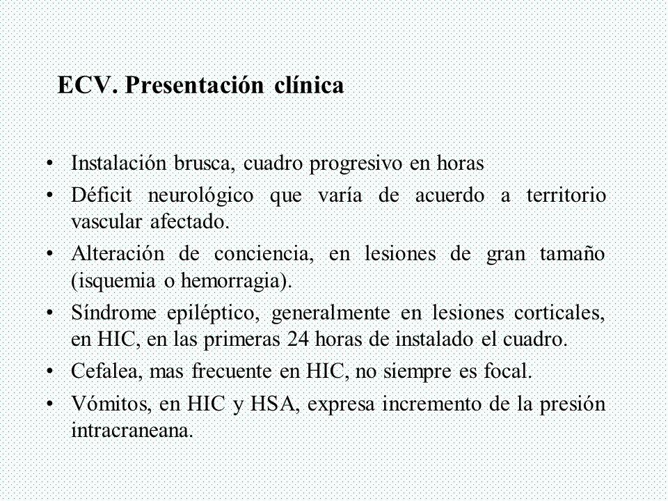 ECV. Presentación clínica