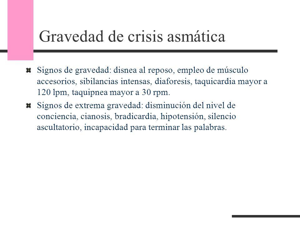 Gravedad de crisis asmática