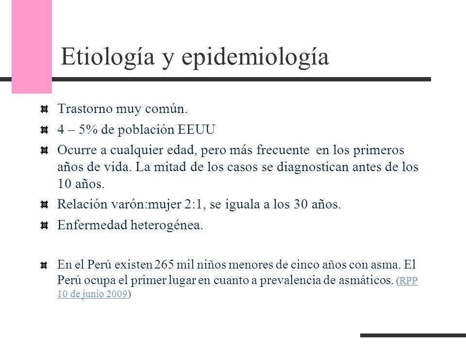 Etiología y epidemiología